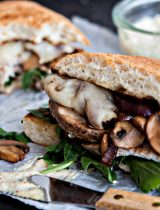 Roasted Pork Sandwich with Caramelized Onions and Mushrooms photos