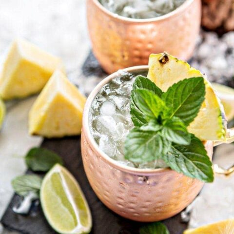 Fresh Pineapple Mint Moscow Mule picture