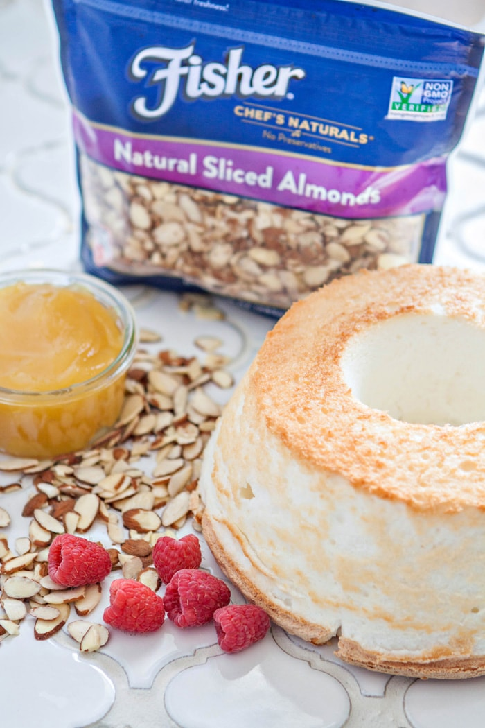 Raspberry Almond Angel Food Cake Parfait image
