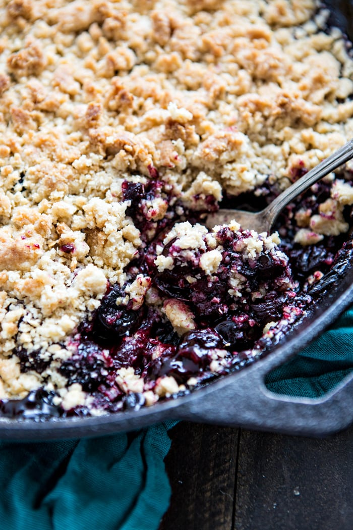Dark Cherry Pomegranate Crumble Recipe image