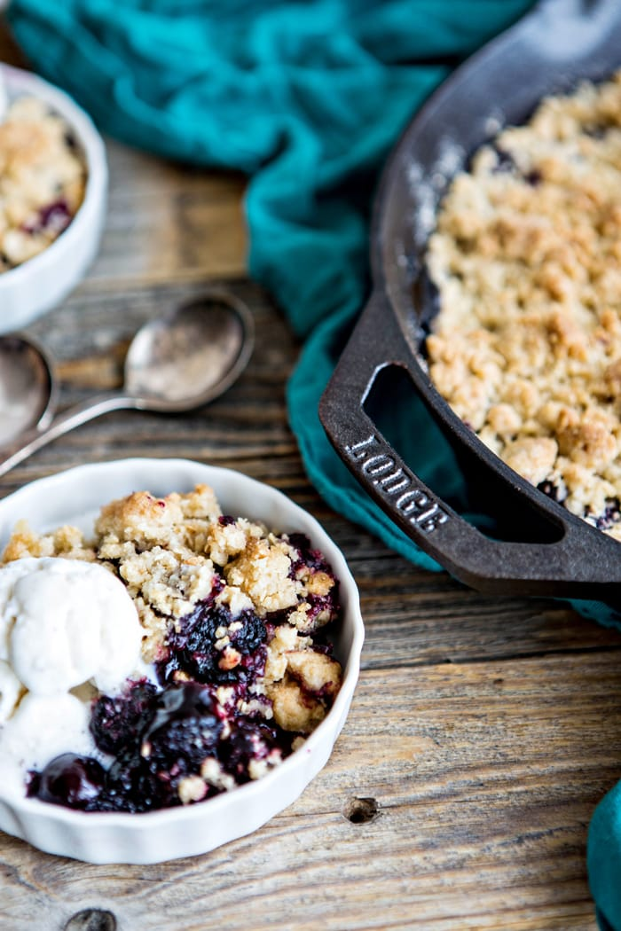 Dark Cherry Pomegranate Crumble Recipe images www.goodlifeeats.com