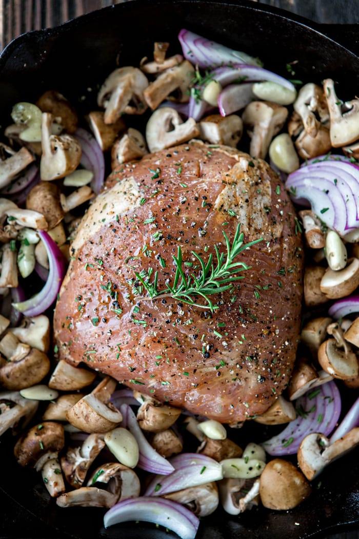roast pork marsala with creamy mushroom marsala sauce