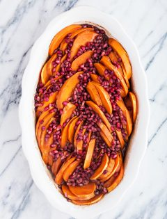 Baked Sweet Potatoes with Pomegranate - Thanksgiving Sweet Potato Recipe