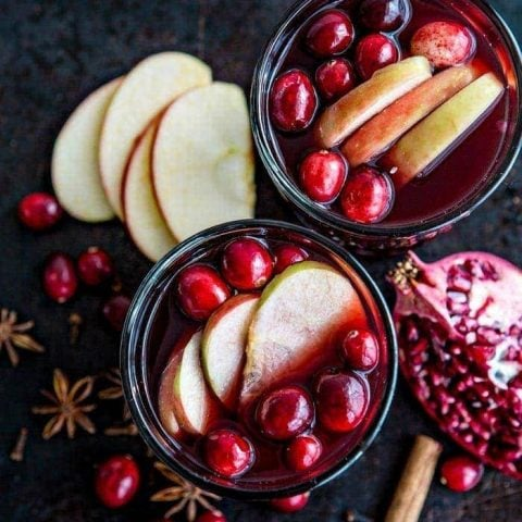 Spiced Pomegranate Apple Cider Mulled Wine