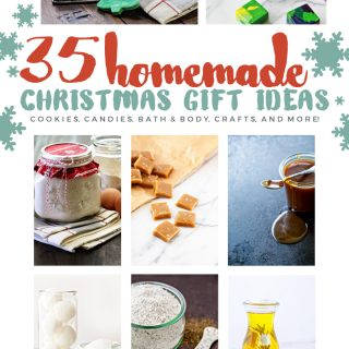 35 Homemade Gift Ideas - cookies, candies, bath & body, Christmas crafts, and more - tons of ideas for homemade holiday gifting!