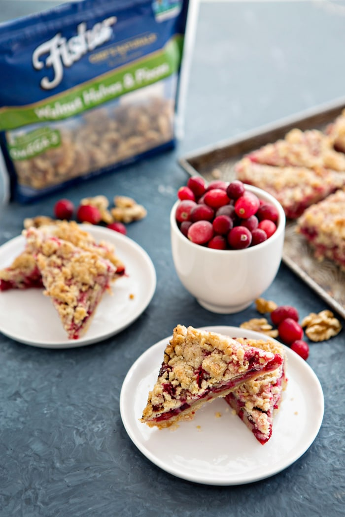Cranberry Pomegranate Walnut Bars photo and recipe