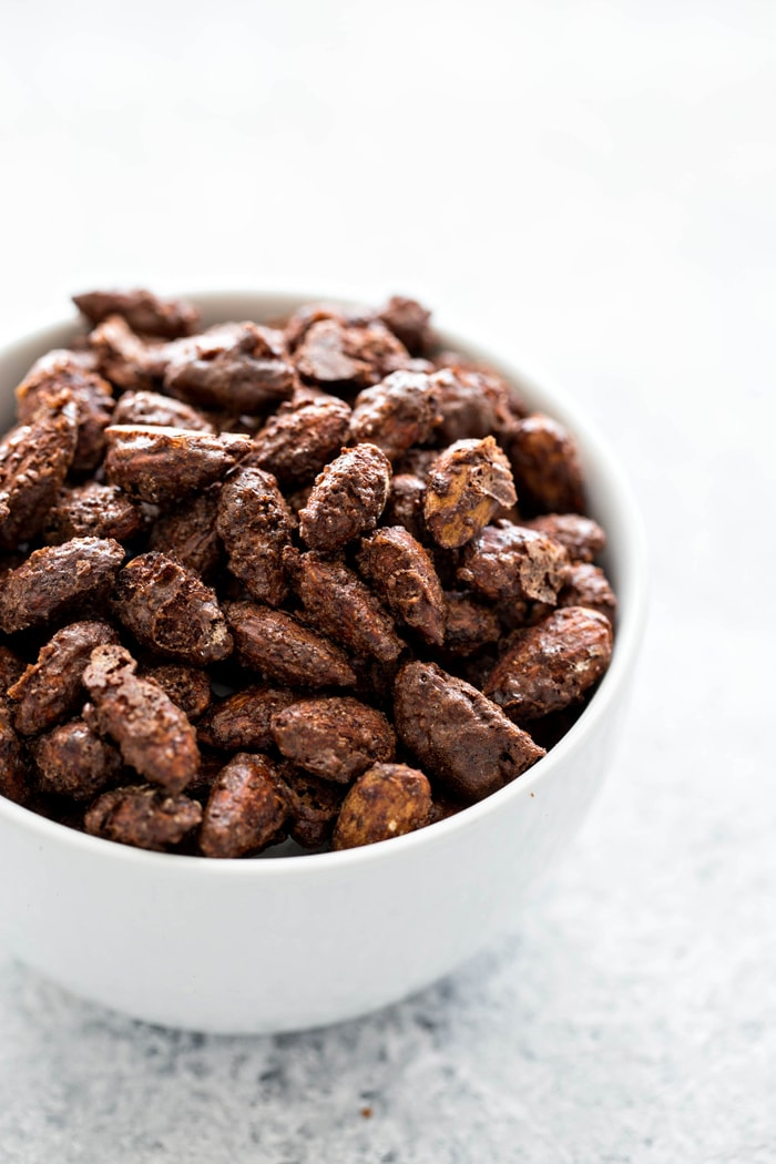 Mocha Roasted Almonds are an incredibly easy snack to make that will help you satisfy your sweet tooth without ransacking your healthy snacking goals.