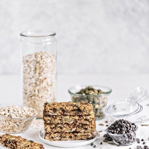 Pumpkin Chai Chocolate Chip Granola Bars