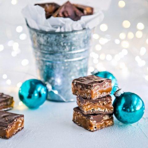 Homemade 100 Grand Bars - Recipe for Milk Chocolate Caramel Crunch Bars