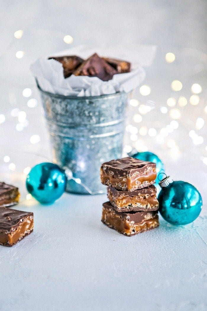 Homemade 100 Grand Bars - Recipe for Milk Chocolate Caramel Crunch Bars