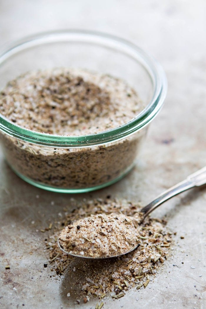 Garlic Herb Salt - Add this recipe for homemade garlic herb salt to your spice cabinet and you'll never need to purchase garlic herb salt from the grocery store again.  Plus, homemade spice blends are super easy to customize exactly how you like!