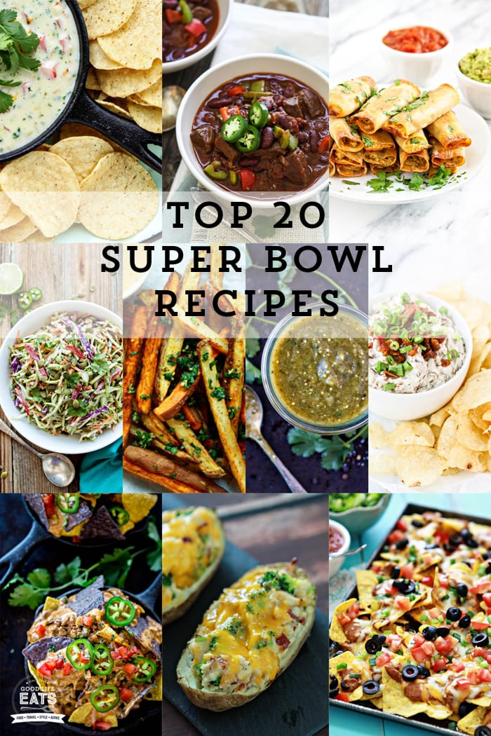 super bowl recipes collage