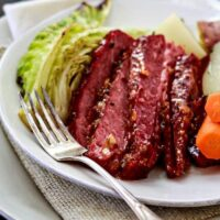 Honey Marmalade Mustard Glazed Corned Beef