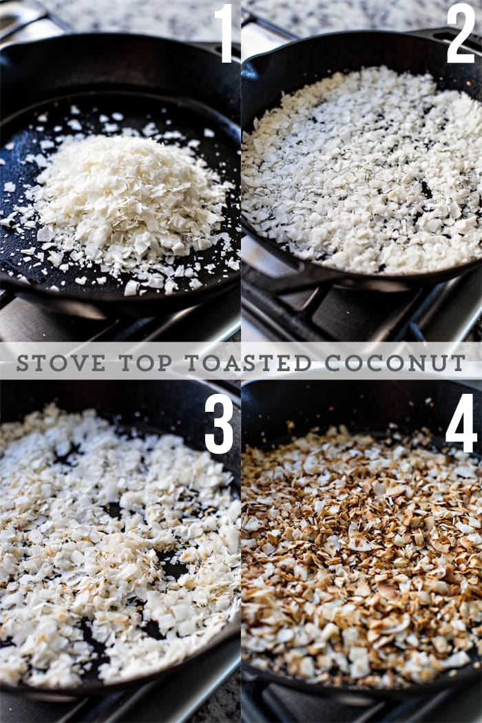 how to toast coconut in a cast iron skillet