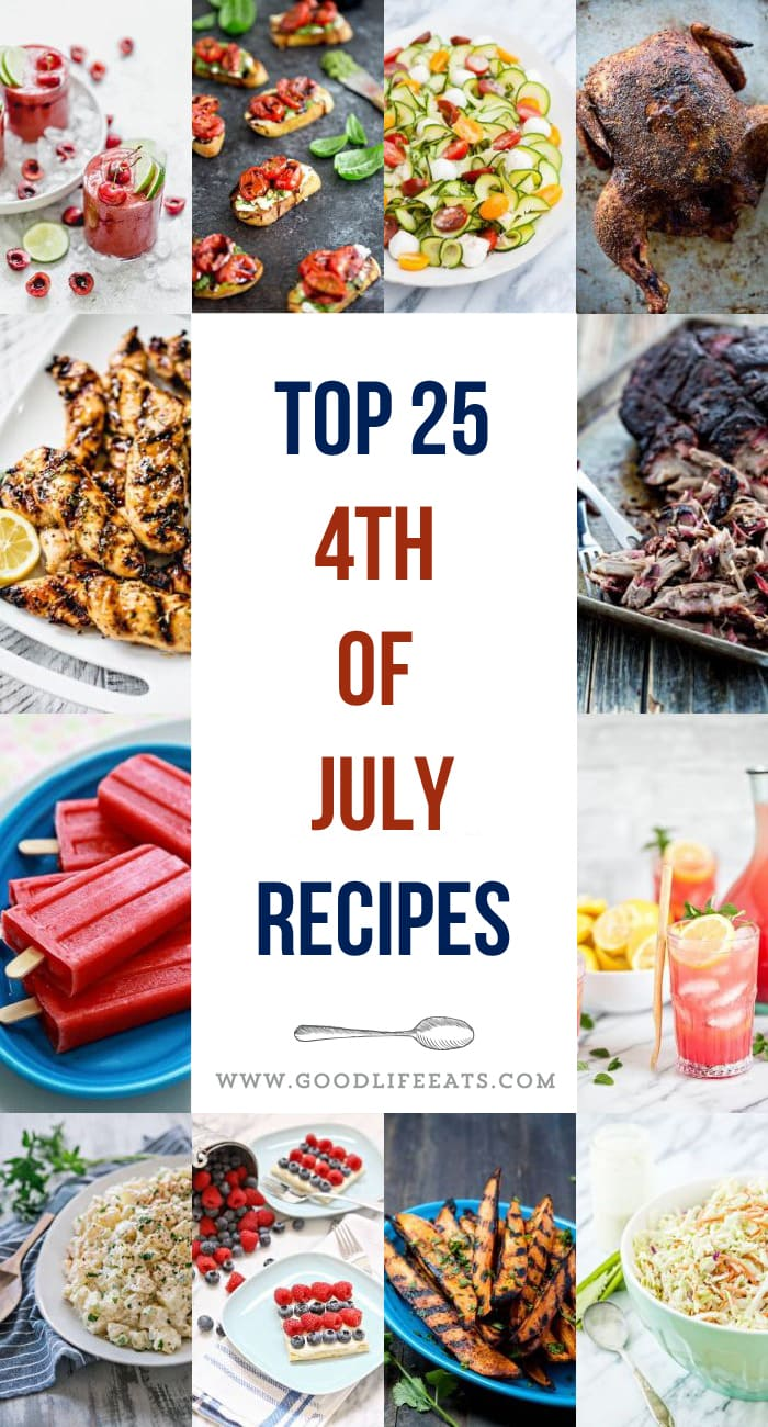 collage of favorite recipes for 4th of july