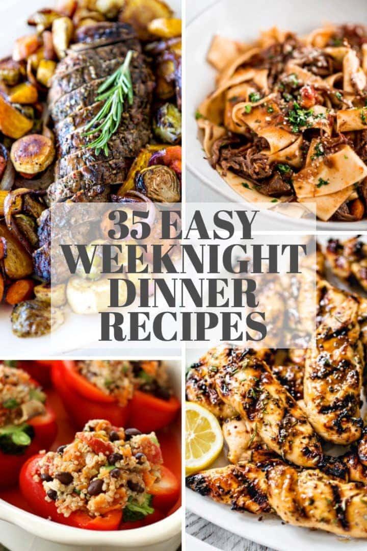 dinner recipe collage
