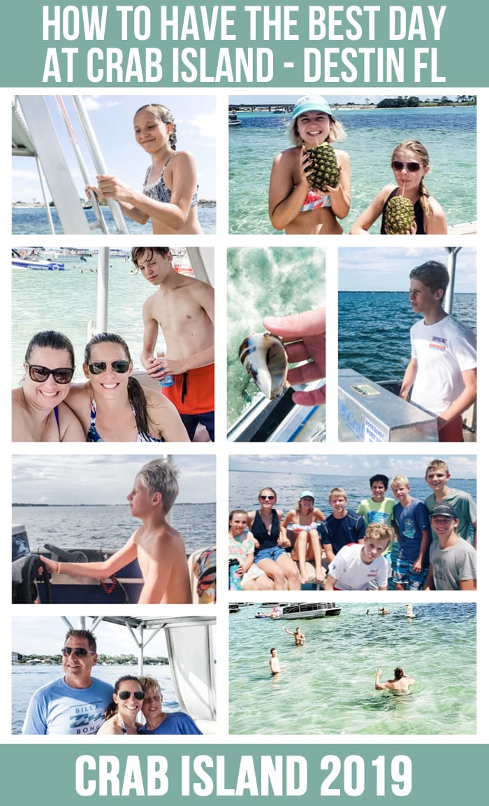 COLLAGE OF CRAB ISLAND PHOTOS