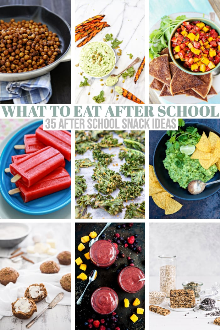 snack recipes collage