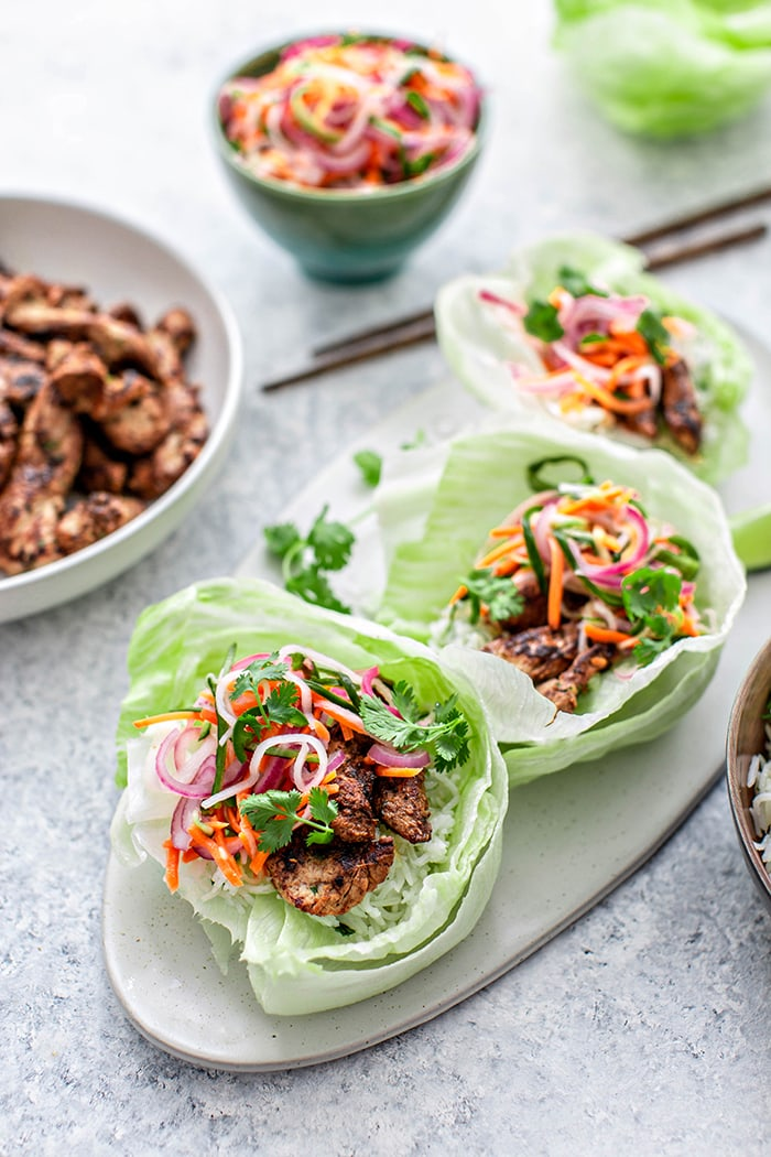 lettuce wrap on plate