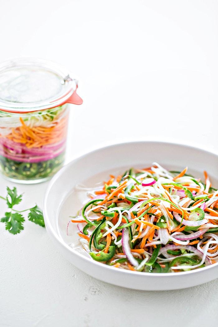 pickled vegetables in a bowl
