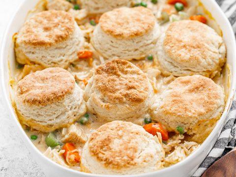 Chicken Pot Pie With Buttermilk Biscuit Crust Good Life Eats