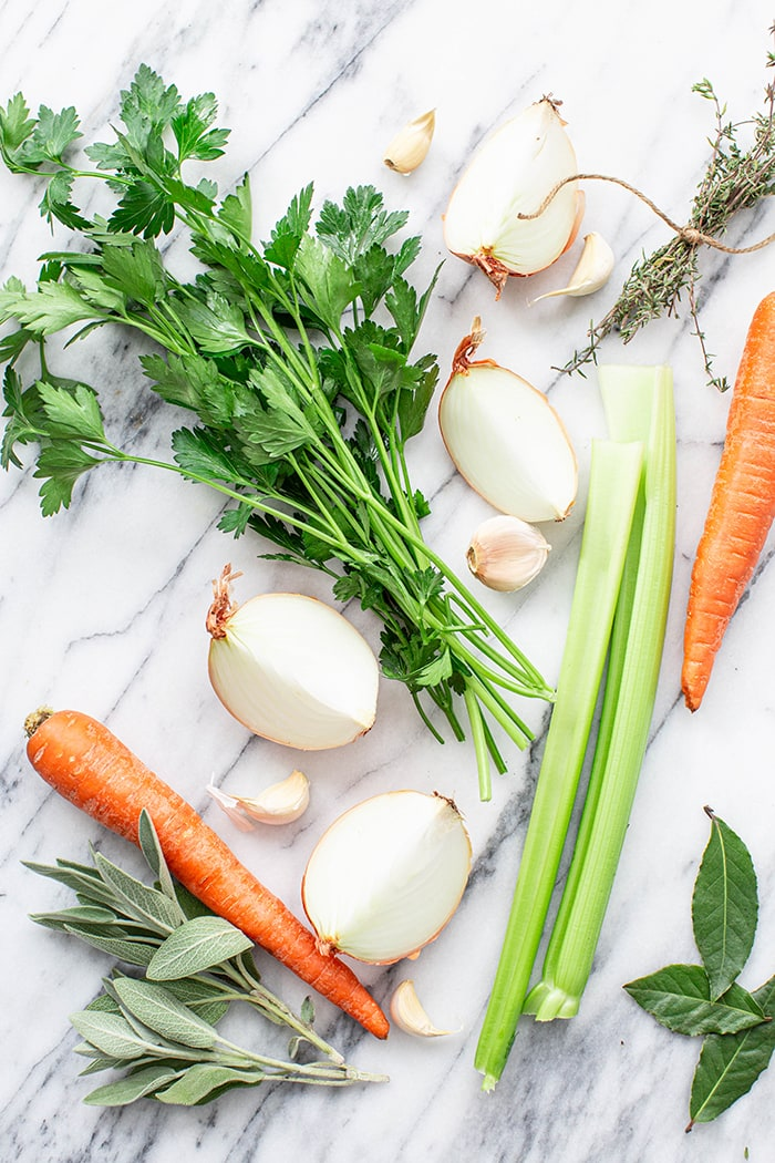 ingredients for turkey stock
