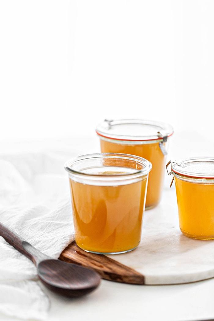 jars of turkey stock
