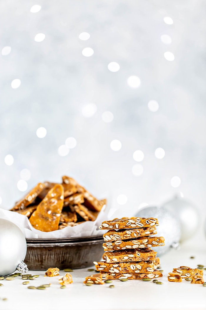 stack of homemade brittle