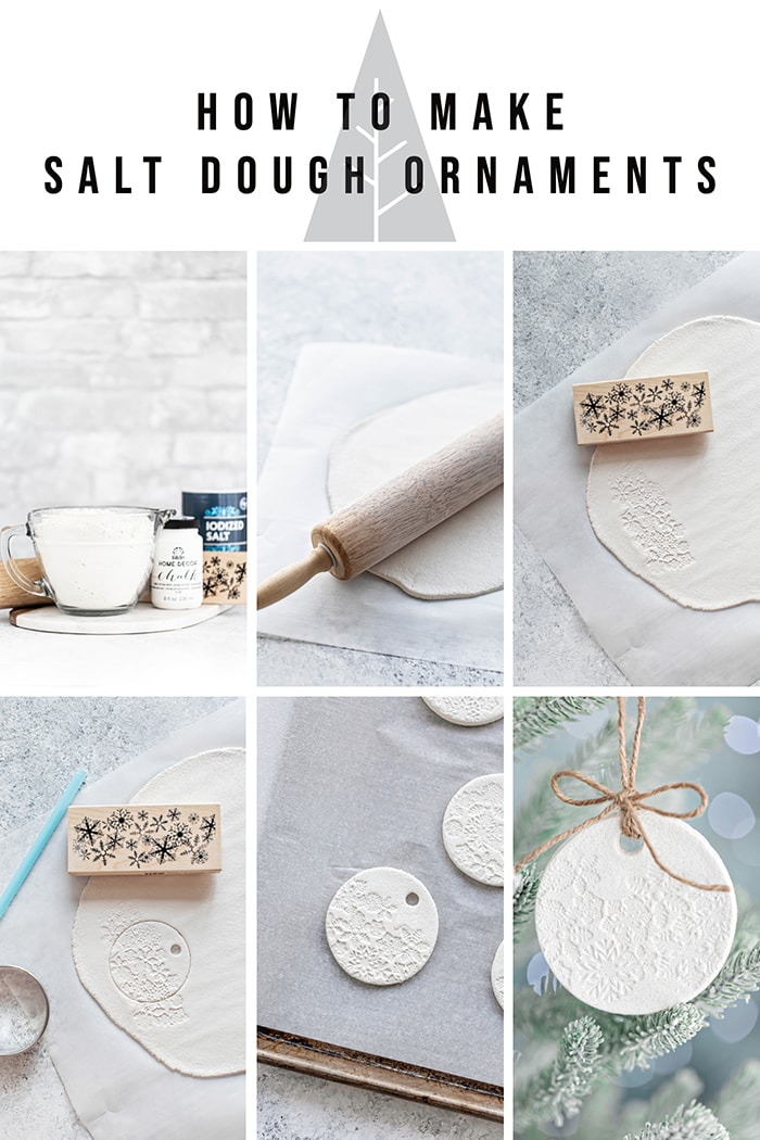 step by step images to make salt dough ornament