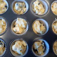 Lemon Yogurt Muffins with Blueberries