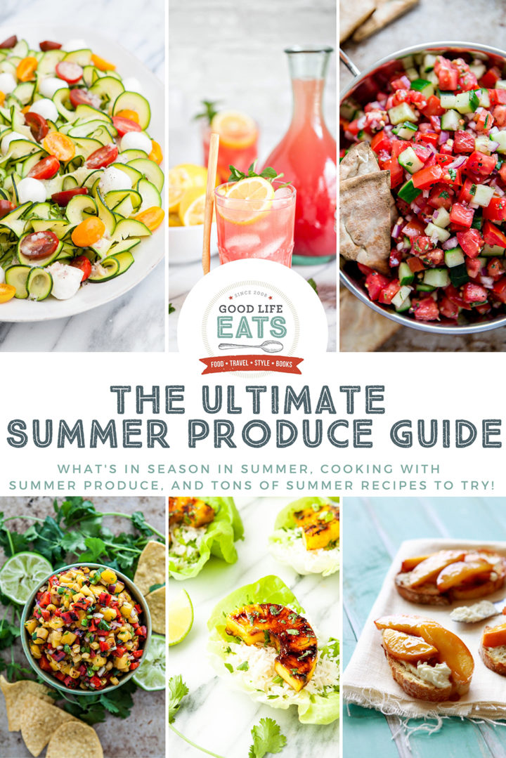 collage of summer recipes