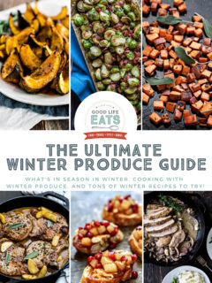 winter produce recipes collage