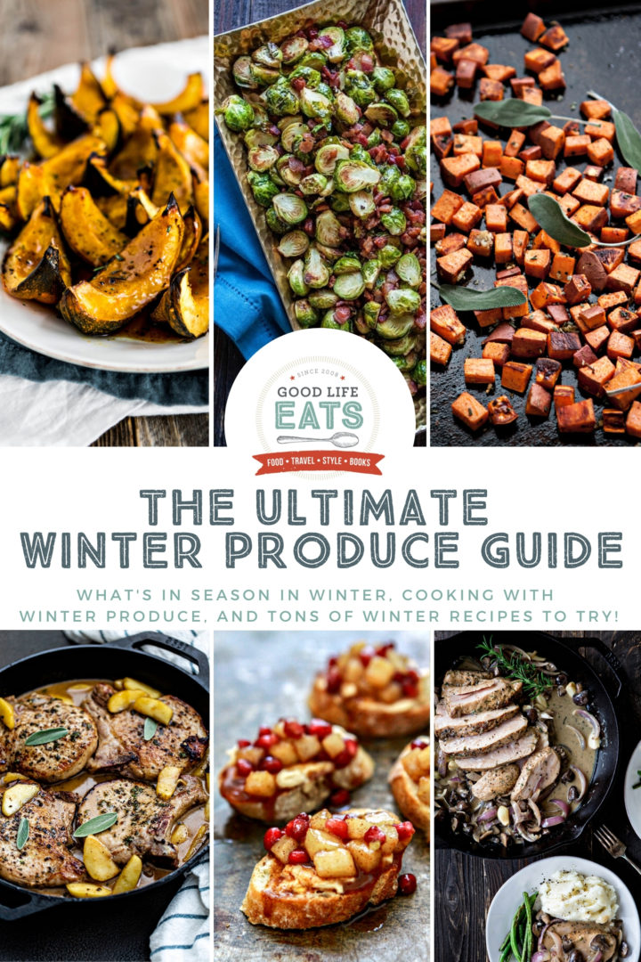 collage of winter produce recipes